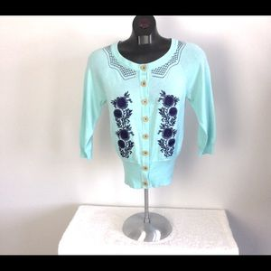 Nick & Mo Tiffany Blue Cardigan